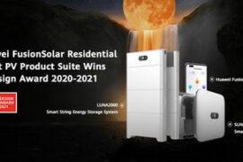 Семейство продуктов Huawei FusionSolar Residential Smart PV завоевывает награду iF Design